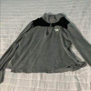 Gray PINK Quarter Zip